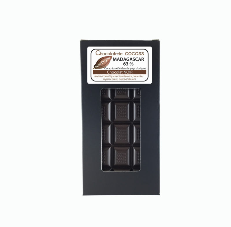 Tablette chocolat noir Madagascar 63%