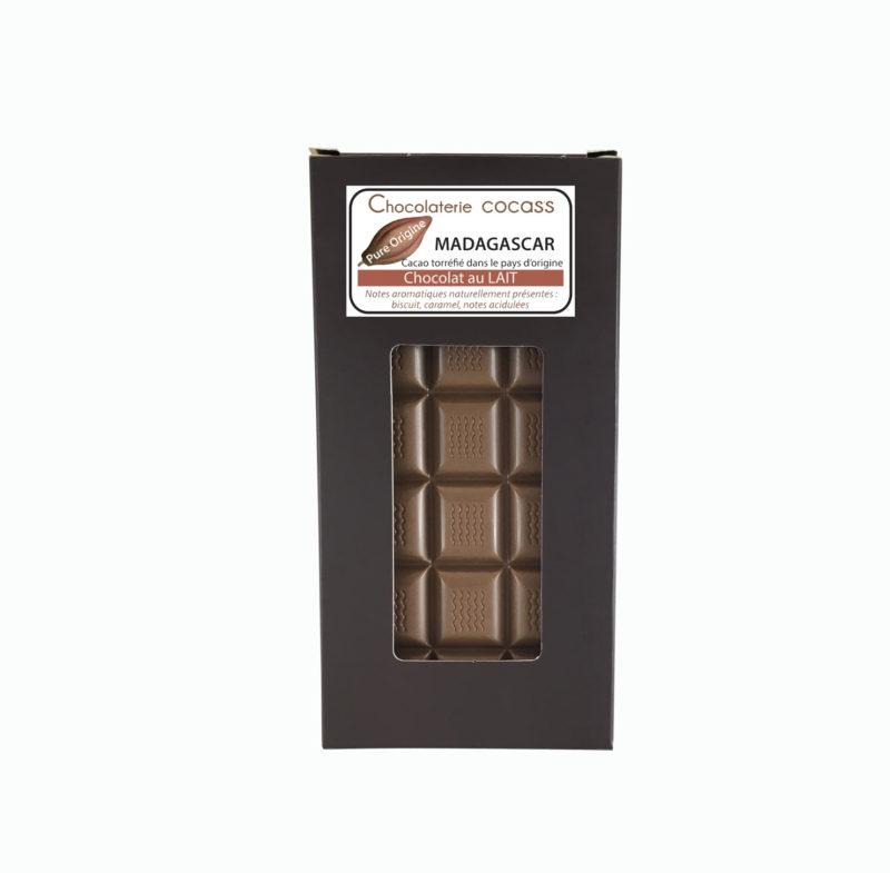 Tablette chocolat au lait Madagascar 44%