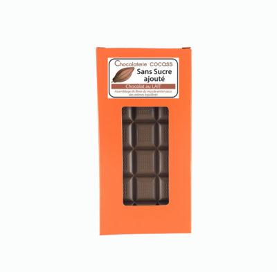 Tablette chocolat au lait sans sucre ajouté (édulcorant:maltitol) 33%