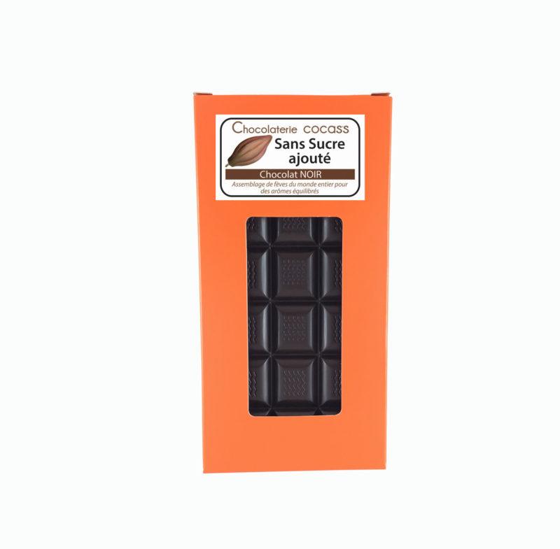 Tablette chocolat noir sans sucre ajouté (édulcorant:maltitol) 55.7%